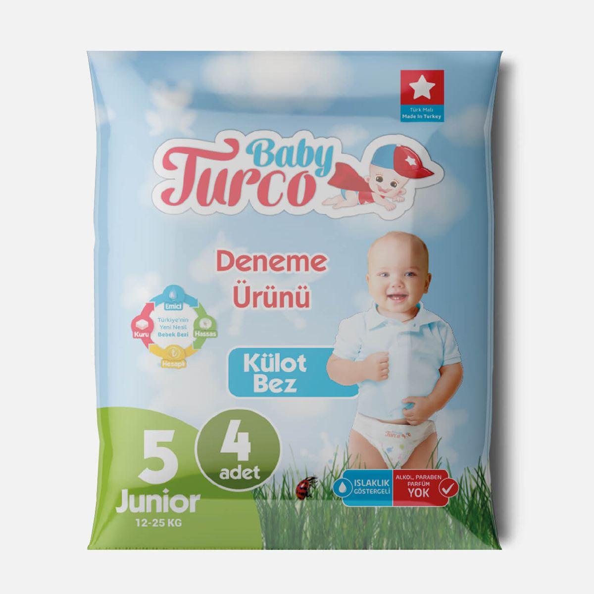 Baby Turco Külot Bez 5 Numara Junior Deneme Ürünü