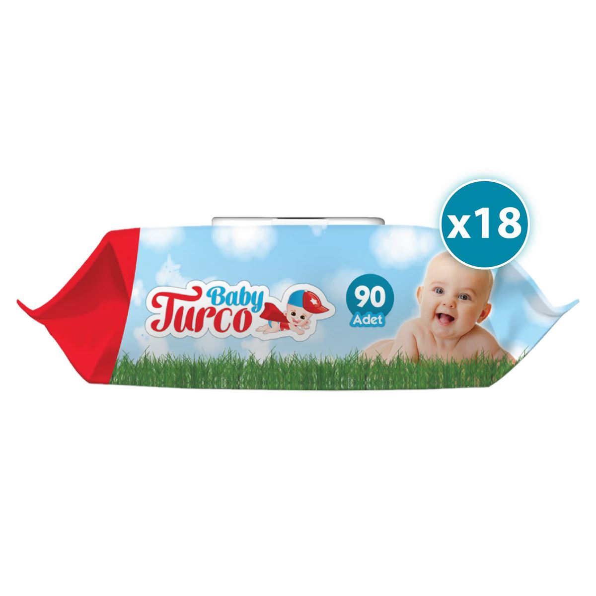 Baby Turco Islak Havlu 18X90'lı