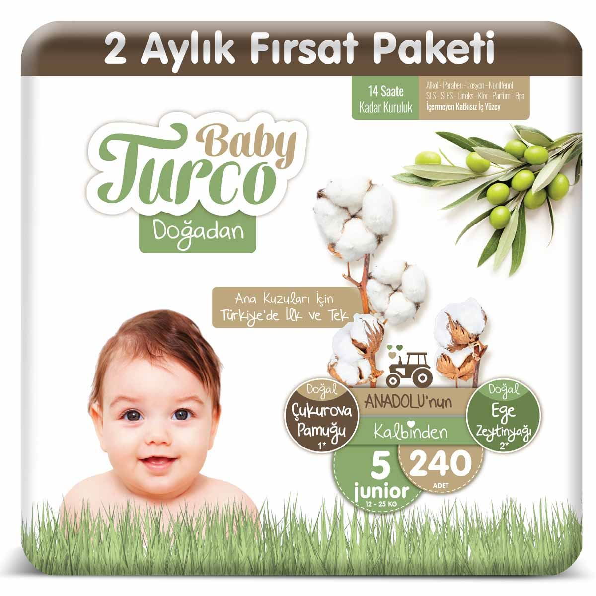 Baby Turco Doğadan 5 Numara Junıor 240 Adet