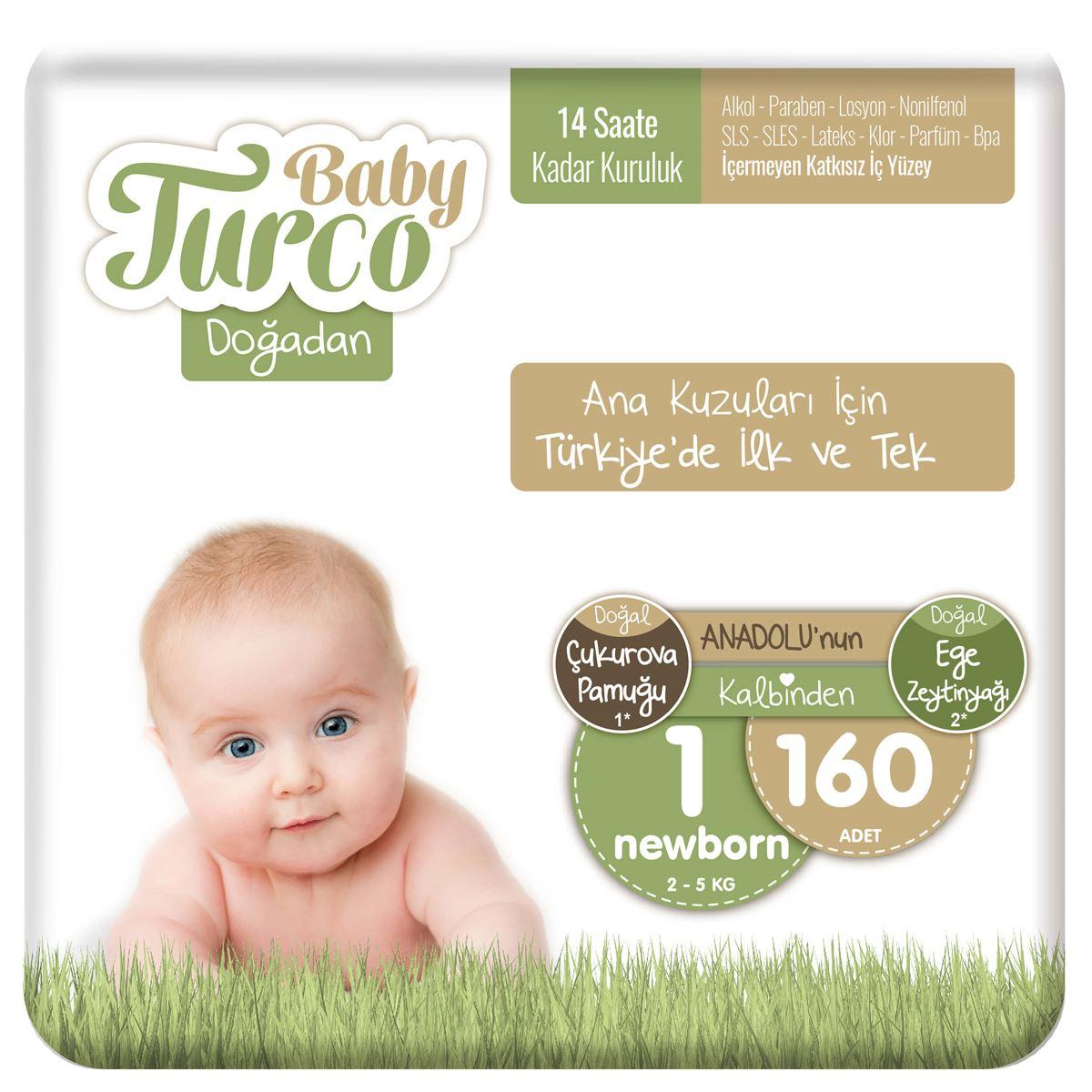 Baby Turco Doğadan 1 Numara Newborn 160 Adet