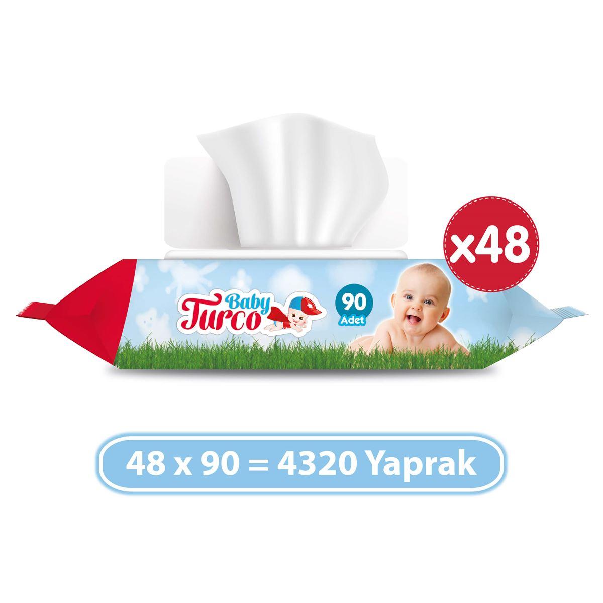 Baby Turco Islak Havlu 48x90'lı