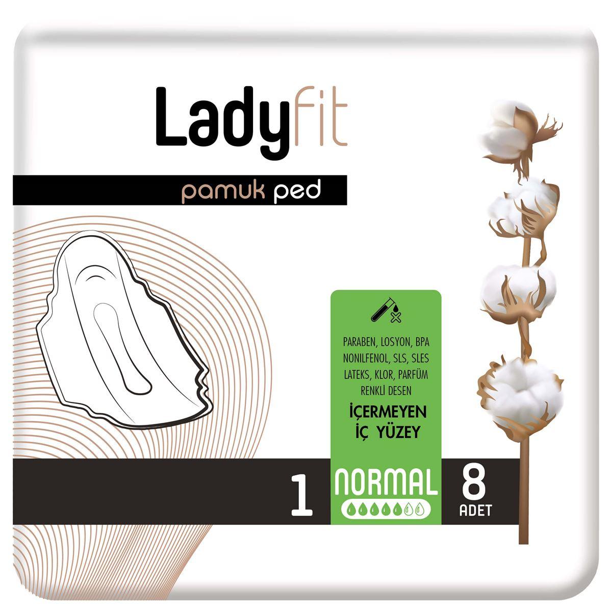 Ladyfit Pamuk Ped Standart Normal 8 Ped