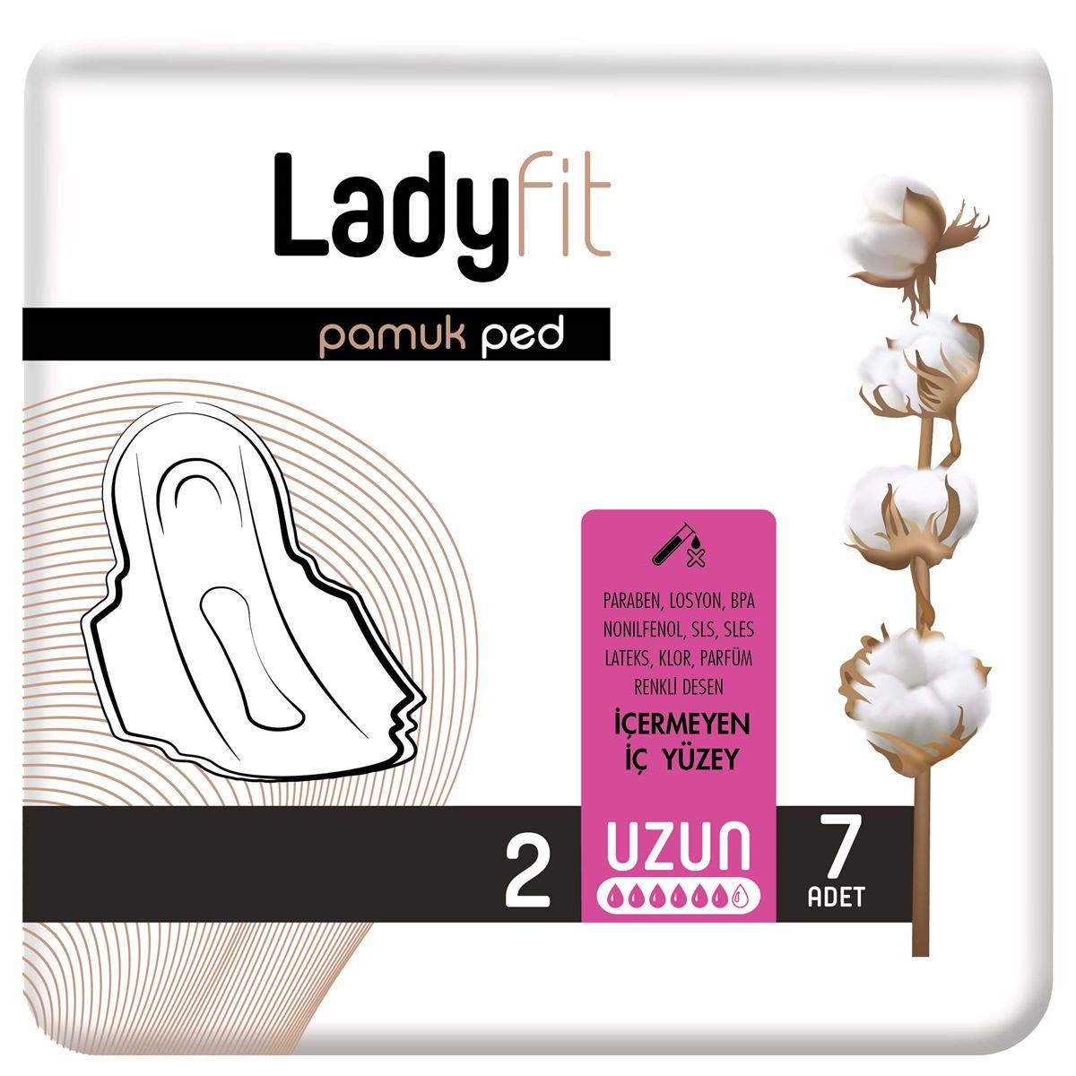 Ladyfit Pamuk Ped Standart Uzun 7 Ped