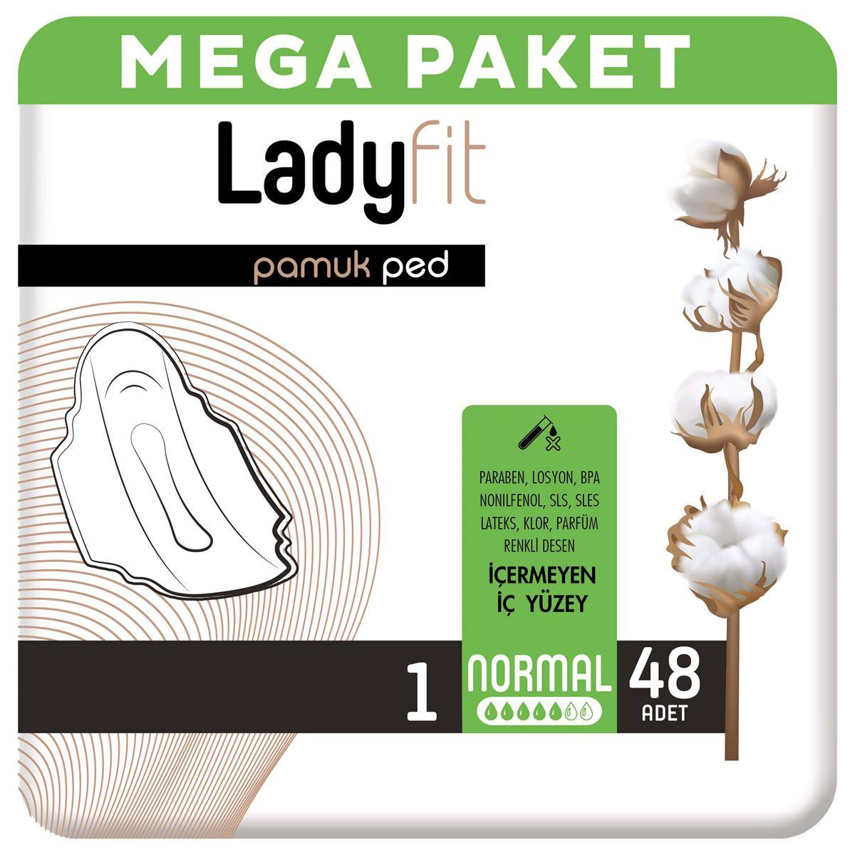 Ladyfit Pamuk Ped Mega Normal 48 Ped