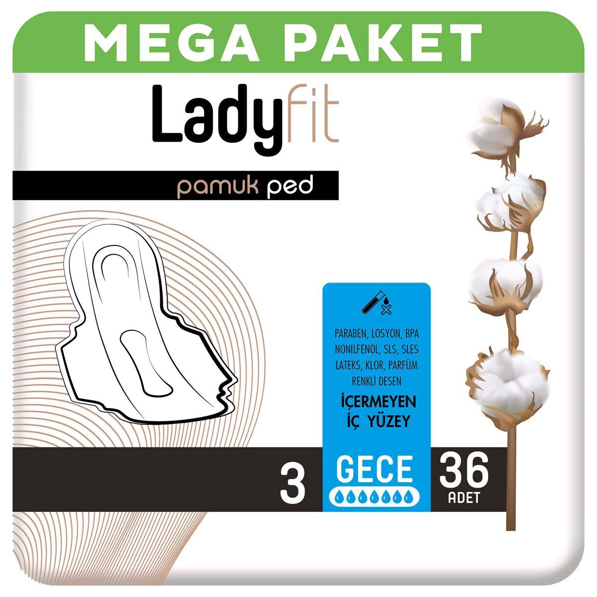 Ladyfit Pamuk Ped Mega Gece 36 Ped