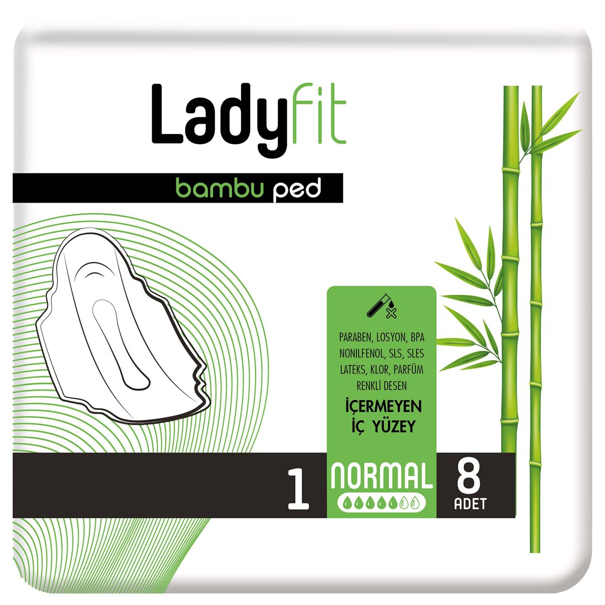 Ladyfit Bambu Ped Standart Normal 8 Ped