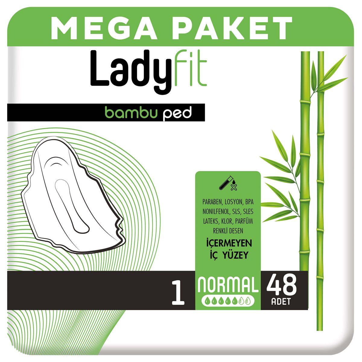 Ladyfit Bambu Ped Mega Normal 48 Ped