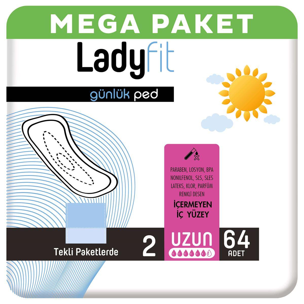 Ladyfit Günlük Ped Uzun 64 Ped