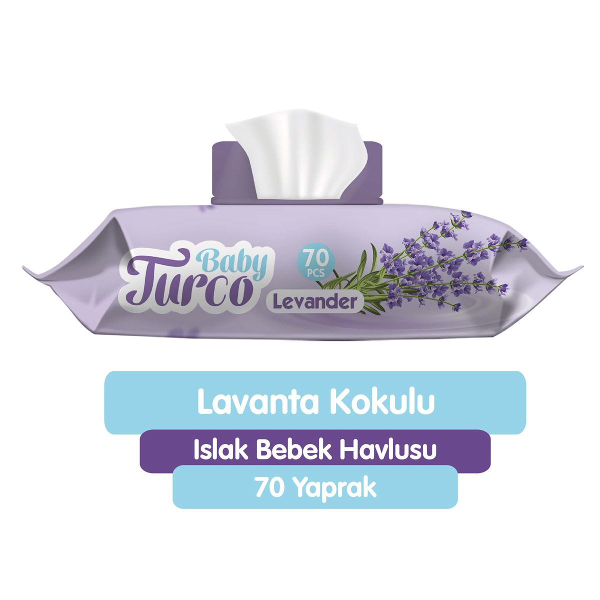 Baby Turco Lavanta Kokulu Islak Bebek Havlusu 70 Adet