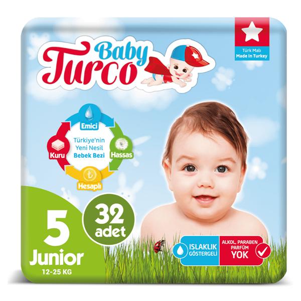 Baby Turco Bebek Bezi 5 Numara Junior 32 Adet