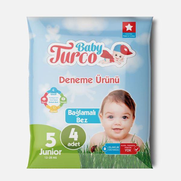 Baby Turco Bebek Bezi 5 Numara Junior Deneme Ürünü