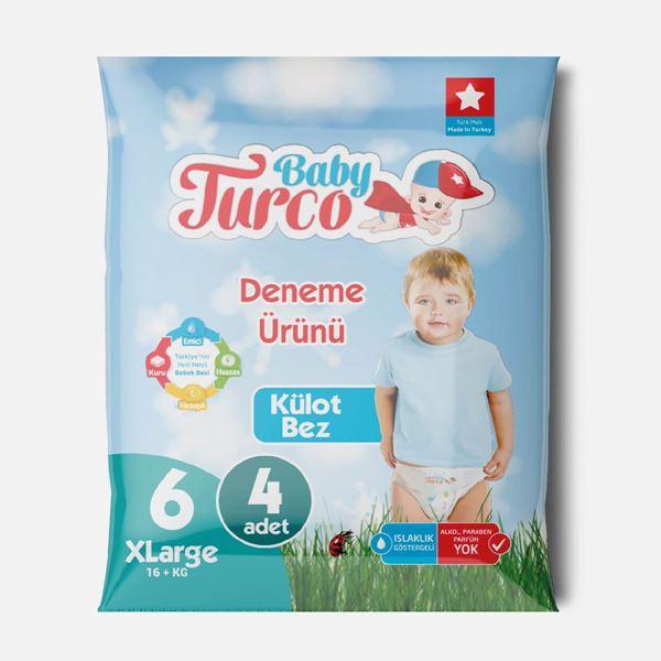 Baby Turco Külot Bez 6 Numara Xlarge Deneme Ürünü