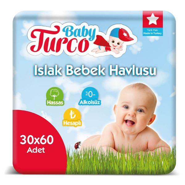 Baby Turco Islak Havlu 30X60