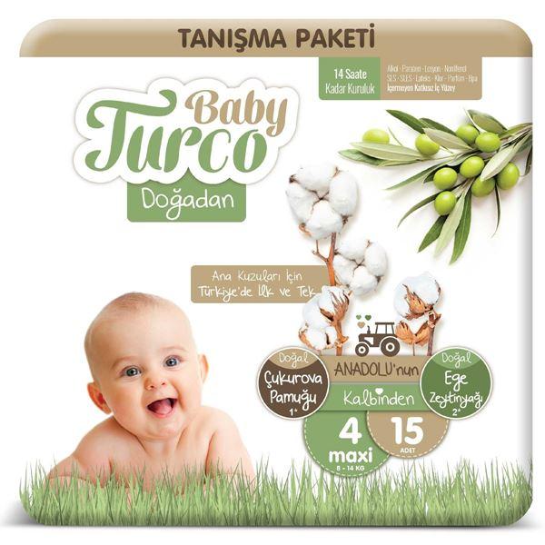 Baby Turco Doğadan 4 Numara Maxi Tanışma Paketi 15 Adet