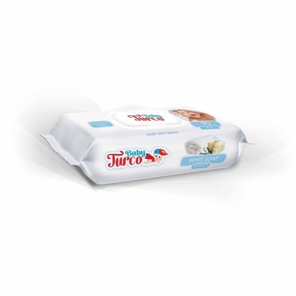 Baby Turco Beyaz Sabun Kokulu Islak Havlu 90 lı