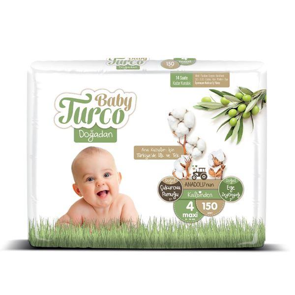 Baby Turco Doğadan 4 Numara Maxi 150 Adet