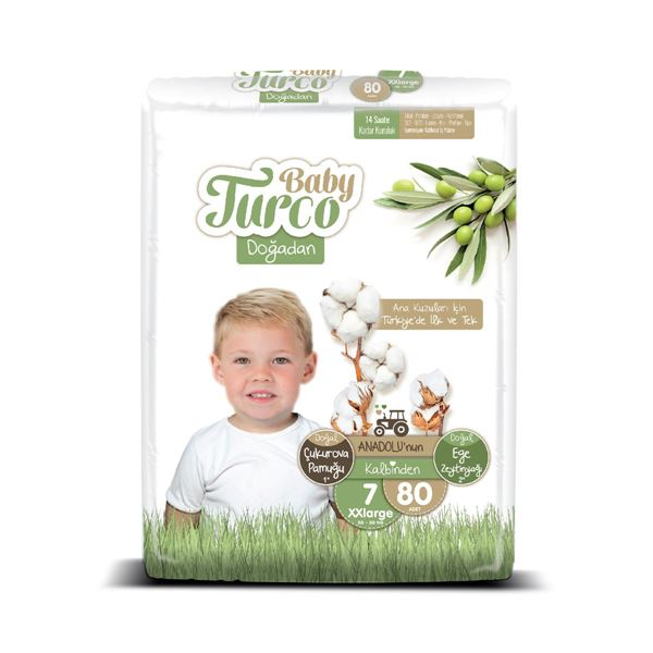 Baby Turco Doğadan 7 Numara Xxlarge 80 Adet