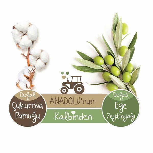 Baby Turco Doğadan Yenidoğan Islak Bebek Havlusu 12X60 Yaprak