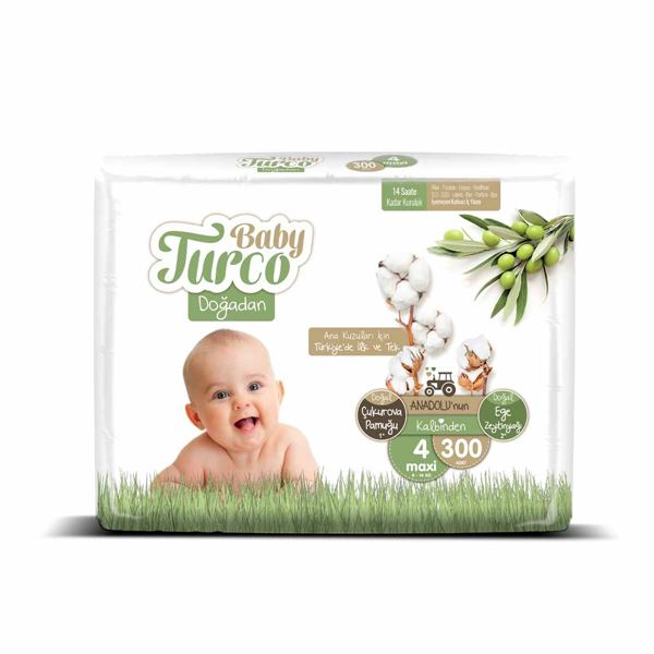 Baby Turco Doğadan 4 Numara Maxi 300 Adet
