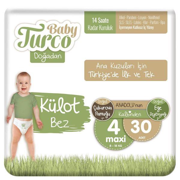 Baby Turco Doğadan Külot Bez 4 Numara Maxi 30 Adet