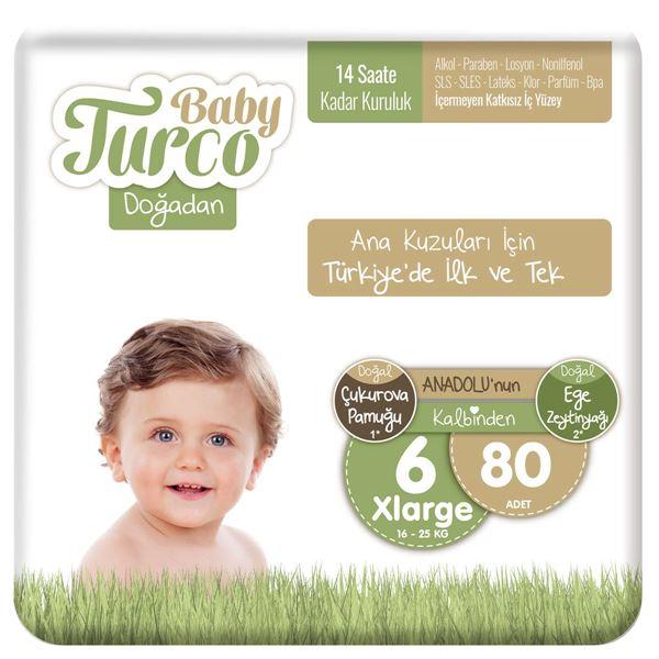 Baby Turco Doğadan 6 Numara Xlarge 80 Adet