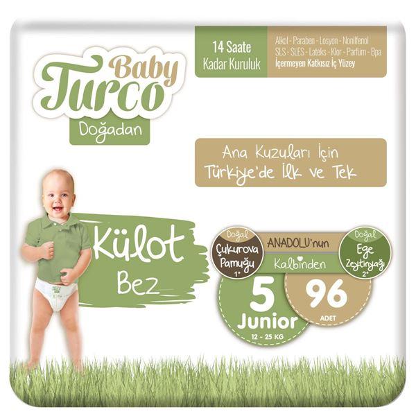Baby Turco Doğadan Külot Bez 5 Numara Junior 96 Adet