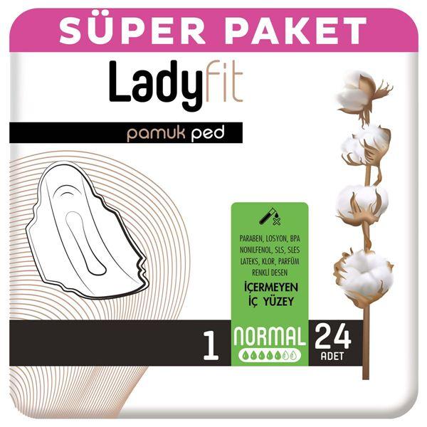 Ladyfit Pamuk Ped Süper Normal 24 Ped