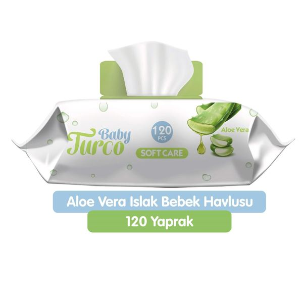 Baby Turco Softcare Aloe Vera Islak Bebek Havlusu 120 Adet