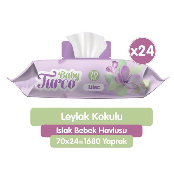Baby Turco Leylak Kokulu Islak Bebek Havlusu 24x70 Adet