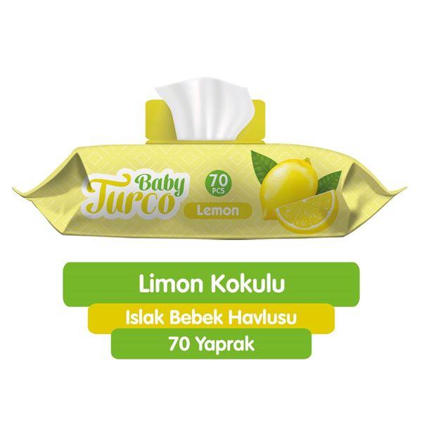 Baby Turco Limon Kokulu Islak Bebek Havlusu 70 Adet