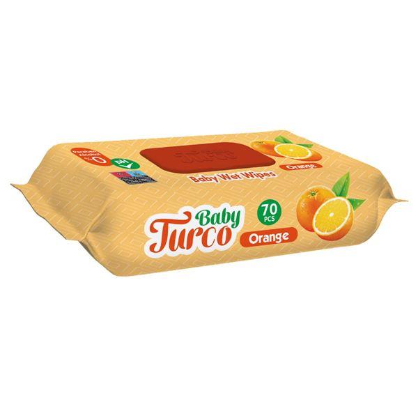 Baby Turco Portakal Kokulu Islak Bebek Havlusu 70 Adet