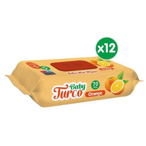 Baby Turco Portakal Kokulu Islak Bebek Havlusu 12x70 Adet