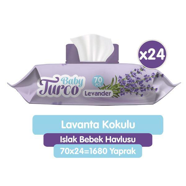 Baby Turco Lavanta Kokulu Islak Bebek Havlusu 24x70 Adet
